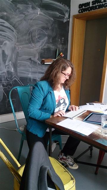 VIele schreiben von Hand, Nina lieber am Rechner