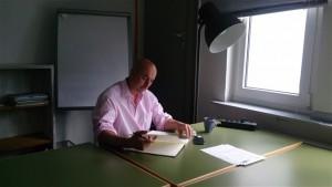 Ein Workshop-Teilnehmer hat einen Rückzugsort zum Schreiben gefunden